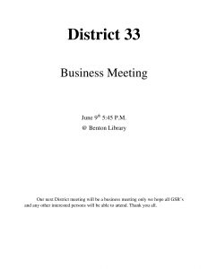 District 33 GSR Meeting @ Marshall County Library