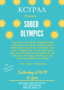 KCYPAA Sober Olympics @ Kereiakes Park