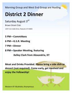 District 2 Dinner @ Brown Street Club