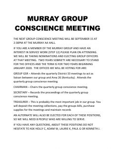 Murray Group Conscience Meeting @ Murray Group