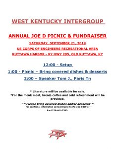 WK Intergroup Annual Picnic @ Kuttawa Harbor Recreational Area