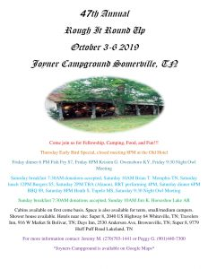 47th Annual Rough It Round Up @ Joyner's Campground