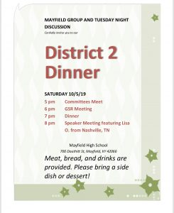 District 2 Dinner @ Mayfield High School