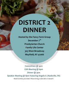 District 2 Dinner @ Presbyterian Church