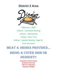 District 2 Dinner @ Brown Street