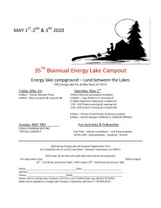 35th Biannual Energy Lake Campout @ Energy Lake Campground