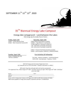 Energy Lake Fall Campout @ Energy Lake Campground