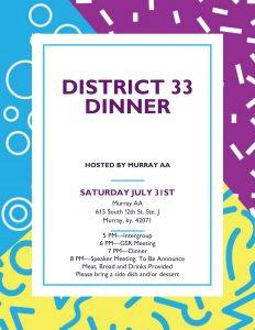 District 33 Eat-N-Speak @ Murray AA