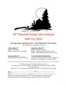 Energy Lake Biannual Campout @ Energy Lake Campground